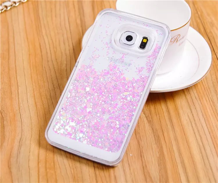 super popular 4c865 811bc US $4.9 |Clear Liquid Quicksand Bling Glitter Star Luxury Case for Samsung  Galaxy S6 Accessories Transparent Hard Cover on Aliexpress.com | Alibaba ...