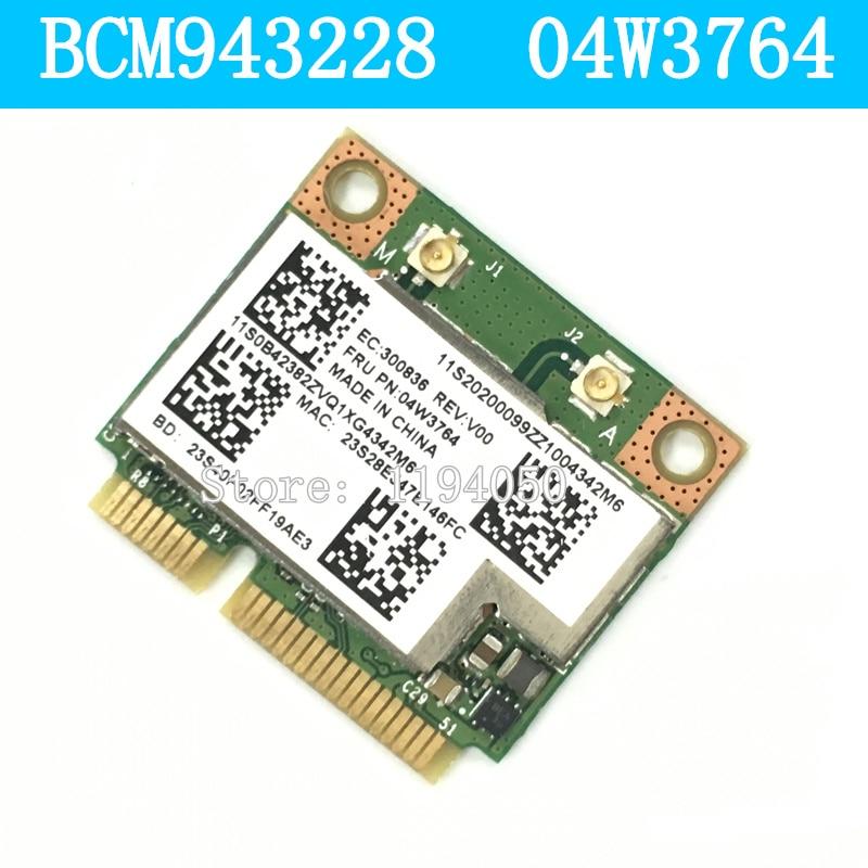 IBM BCM943228HMB 04W3764 WIFI Wireless Bluetooth 4.0 Half MINI PCI-E Card Compact For Lenovo E130 E135 E330 E335 E530 E535 E430