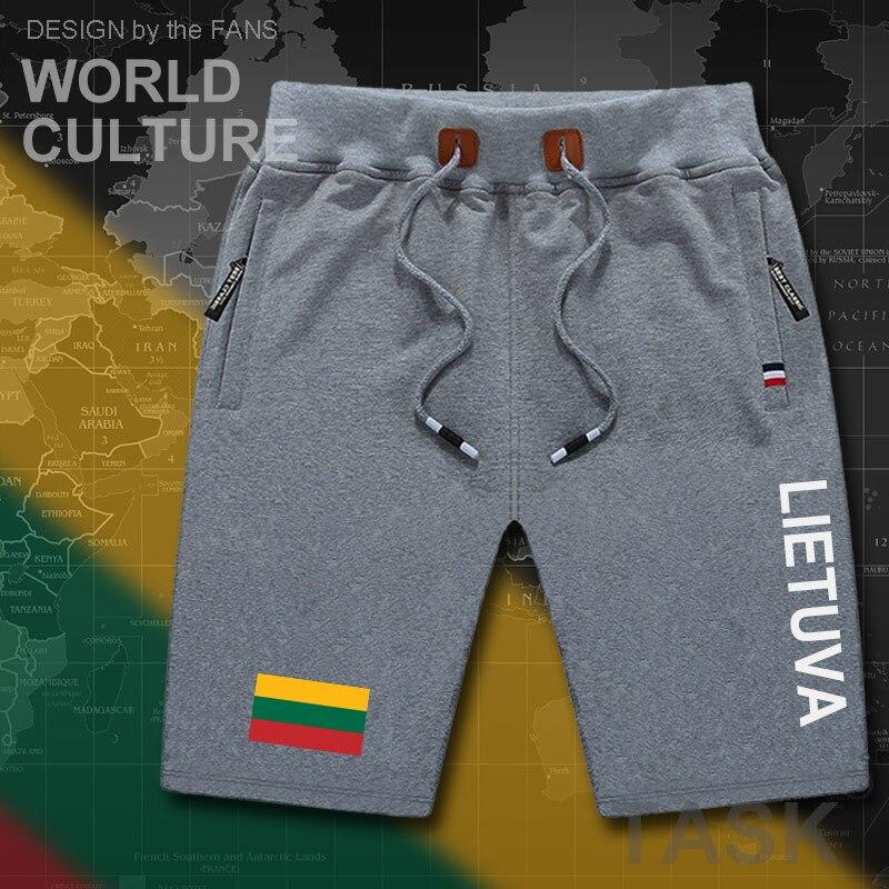 Lithuania Lithuanian Mens Shorts Beach Man Men's Board Shorts Flag Workout Zipper Pocket Sweat Bodybuilding LTU Lietuva Lietuvos