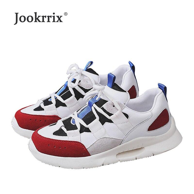 Jookrrix 2018 nuevo Casual blanco zapatos mujer marca zapatillas de cuero  Real señora chaussure otoño femeninos respirables calzado calidad en Zapatos  de ... 0a0443167214