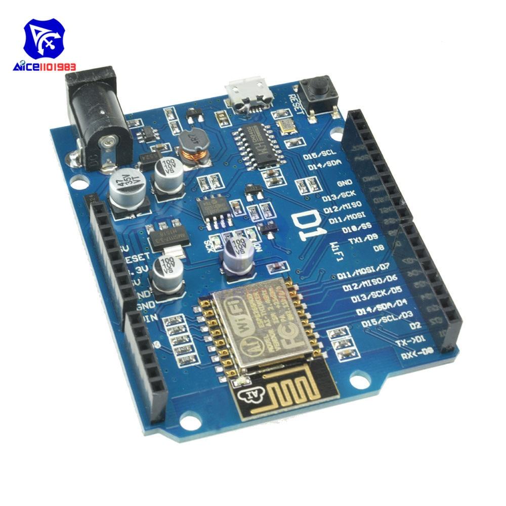 OTA WeMos D1 CH340 CH340G WiFi Development Board ESP8266 ESP-12 ESP-12E Module For Arduino IDE UNO R3 Micro USB ONE 3.3v 5v 1A