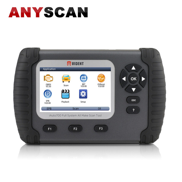 New Price VIDENT iauto700 Full System Auto obd/OBD2 Diagnostic Tool Car ABS/SRS/EPB Scanner Actuation Functions Adapter Programmer