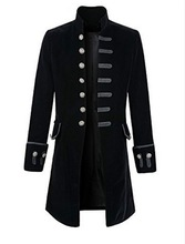 HOT Mens Retro Steampunk Tailcoat Long Peacoat Gothic Victorian Coat A9