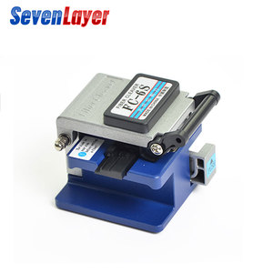 Image 3 - FTTH fiber optic tool kit FC 6S Fiber Cleaver Optical Power Meter 5 30km Visual Fault Locator otdr with Stripping Pliers