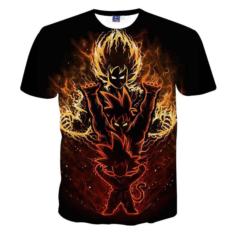 Dragon Ball Goku T-shirts 3D Printing Super Saiyan  T Shirt For Men