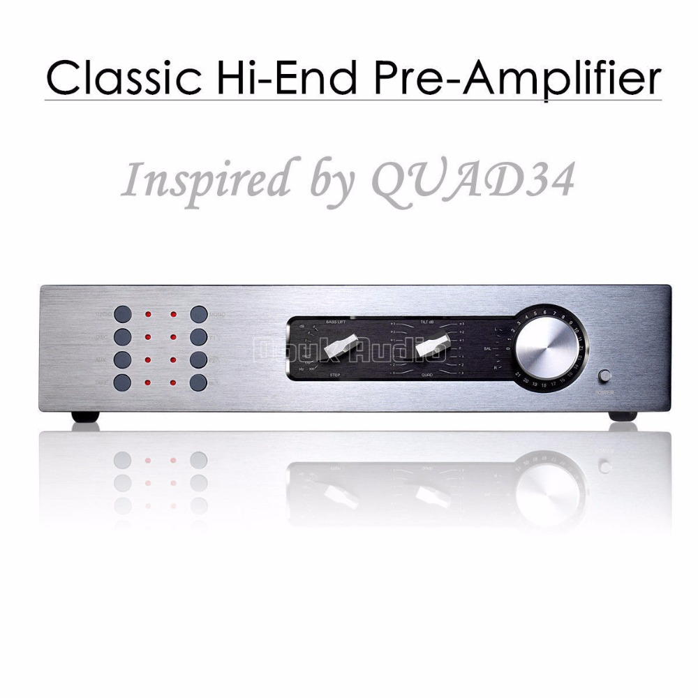2017 New Nobsound High-End Classic Preamp Stereo Preamplifier HiFi Pre-Amp Audio Inspired by QUAD34 1pcs high quality little bear p5 stereo vacuum tube preamplifier audio hifi buffer pre amp diy new