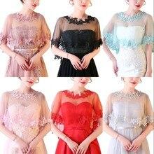 Fashion Women Lace Applique Bridal Wedding Bolero Shrug Shawl Wrap Cape Stole Accessories In Stock