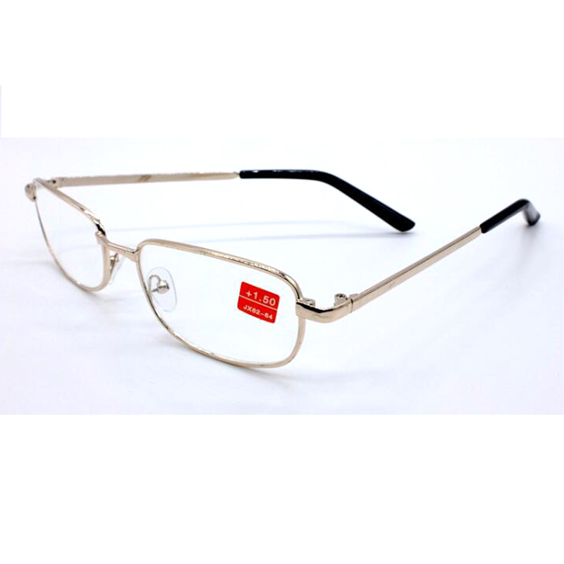 Hot Sell High Quality Metal Frame Reading Glasses Hyperopia Glasses Men Women Glass Lens Anti Fatigue Leesbril Diopters Gafas L3 in Women 39 s Reading Glasses from Apparel Accessories