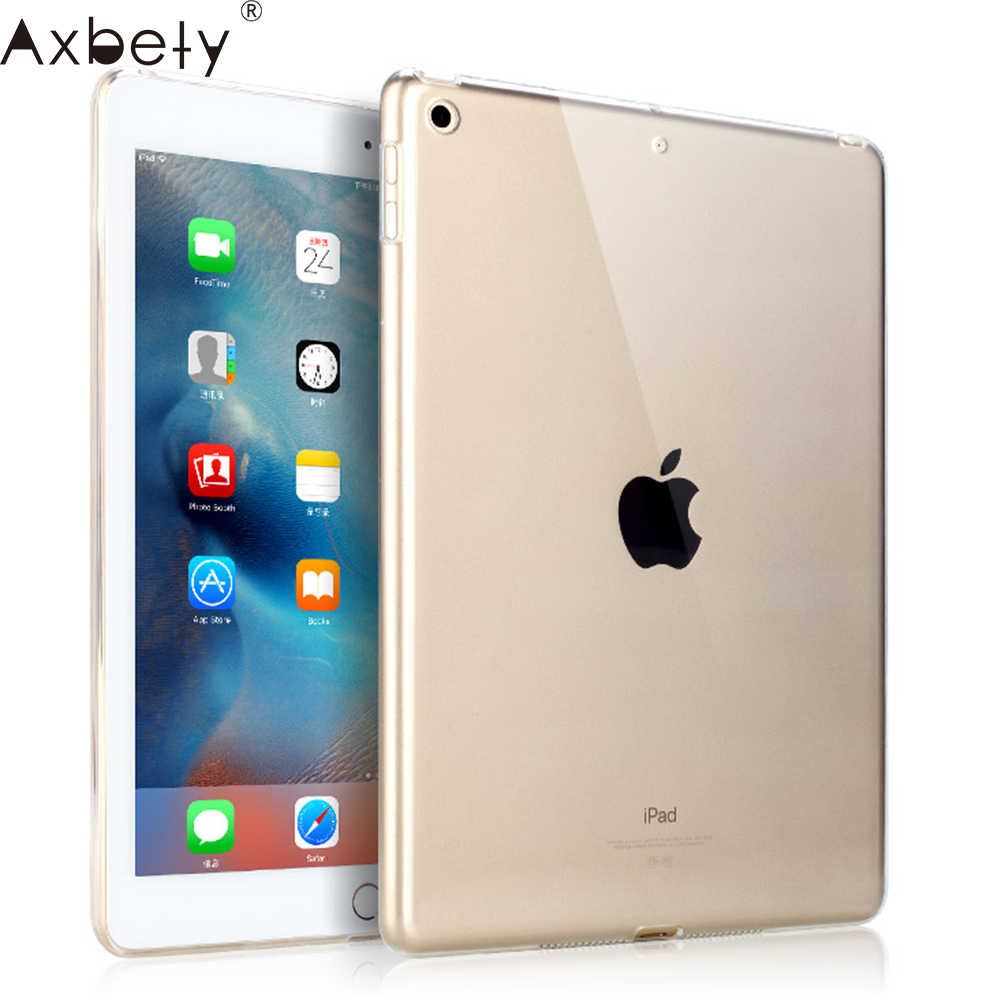 AXBETY fundas Voor Apple ipad 2 3 4 Case Silicon Soft TPU Transparant Bescherm Cover Voor ipad air 2 Clear Case Voor ipad 4 5 6 Case