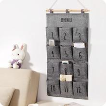 Storage-Bag Closet-Organizer Hanging Wall-Mounted 8-12-Pockets Door-Behind Home Bags.