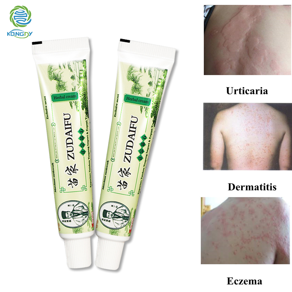 2Pcs Zudaifu Skin Psoriasis Cream Dermatitis Eczematoid Chinese Eczema Ointment Treatment Psoriasis Cream Skin Care Plaster image
