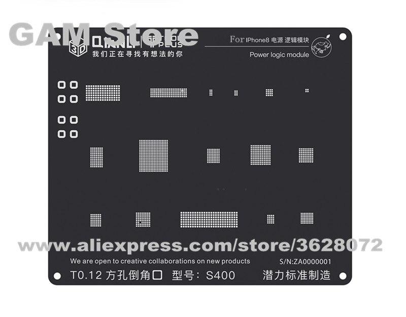 Original New 3D IC Chip BGA Reballing Stencil Solder Tin Template for iPhone A10