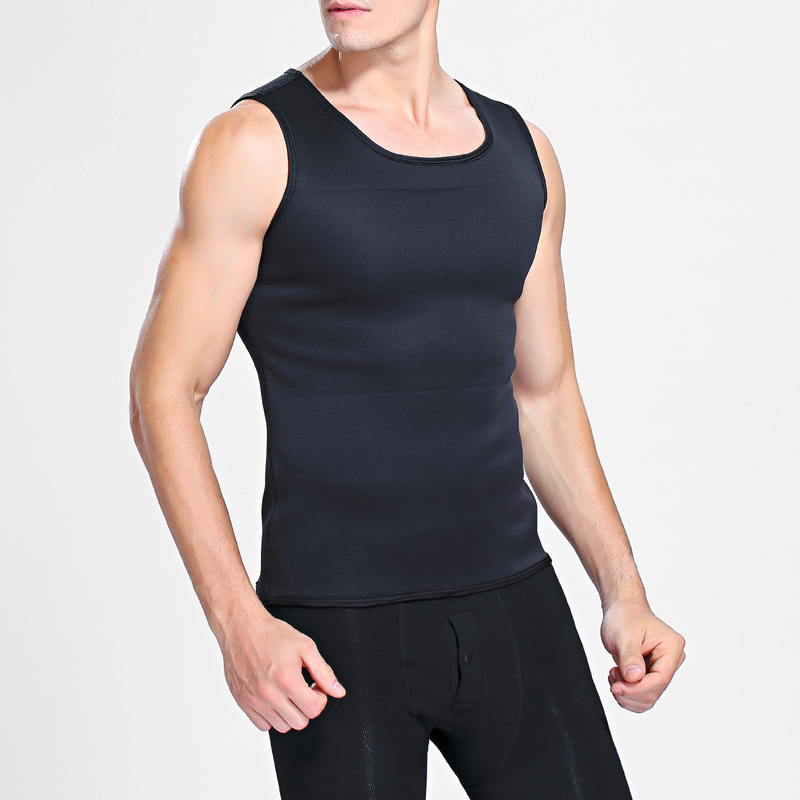 Men Shaping Sports Shirts Warm-up Body Control Outfit Lose Weight Fitness Clothing Neoprene Winter Exercise Top Sleeveless