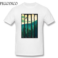 2017 Various Colors Funny Cotton Pines Eagles Mountain Funny T Shirt For Men