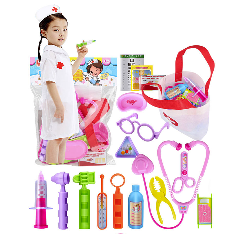 Kids Role Play Games Doctor Dentist Nurses Wooden Toy Set Medical Kit XMAS GIFT