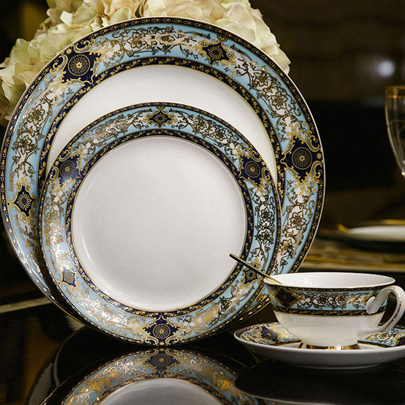 tableware advanced bone china dinner plates ceramic cup and saucer set