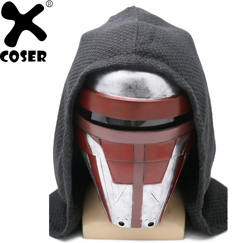 XCOSER Star Wars Darth Revan Cosplay Mask Knights of the Old Republic Cosplay Costume Resin Halloween Masks For Men Women