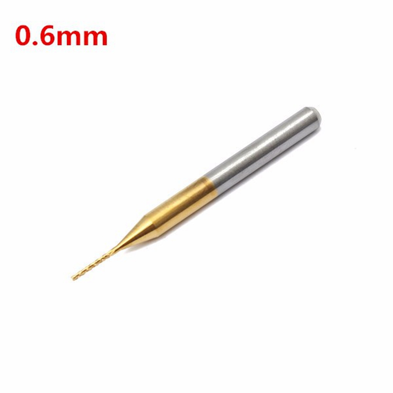 10pcs Titanium Coated End Mill Carbide Milling Cutter Drill Tool 3.175X0.6X5mm Router Bits for Wood Cnc Metal Head Groove Cutter 10pcs 1 8 1 5 3 175mm end mill corn milling cutter cnc engraving bits for woodworking router bits wood cutter milling