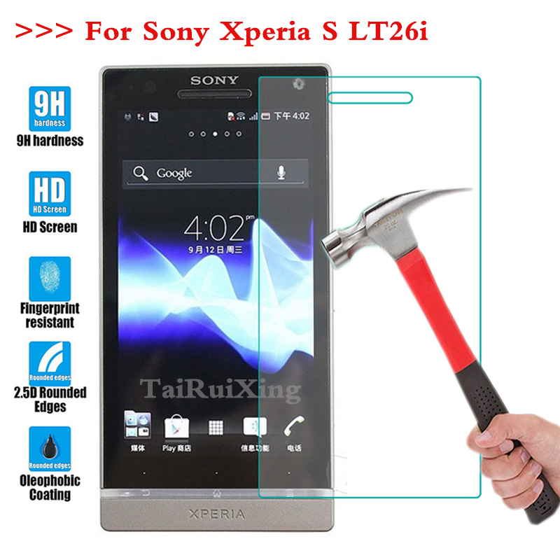 Screen Protector Film 0.3mm 9H 25D Front Premium Tempered Glass for Sony Xperia S LT26i / LT LT26 26 26I i Arc
