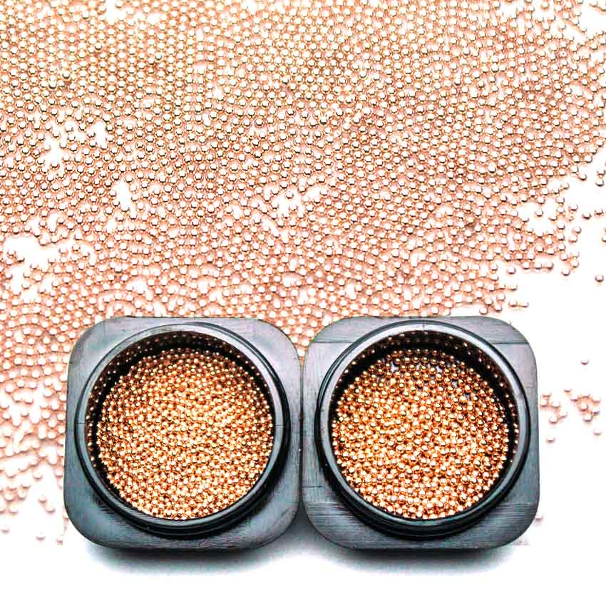 Rose Gold 3d Metal Micro Beads 1 Jars 0.8mm/1mm Nail Art Caviar Steel Metal Bead For Nail Art Manicure Decorations MJZ2080