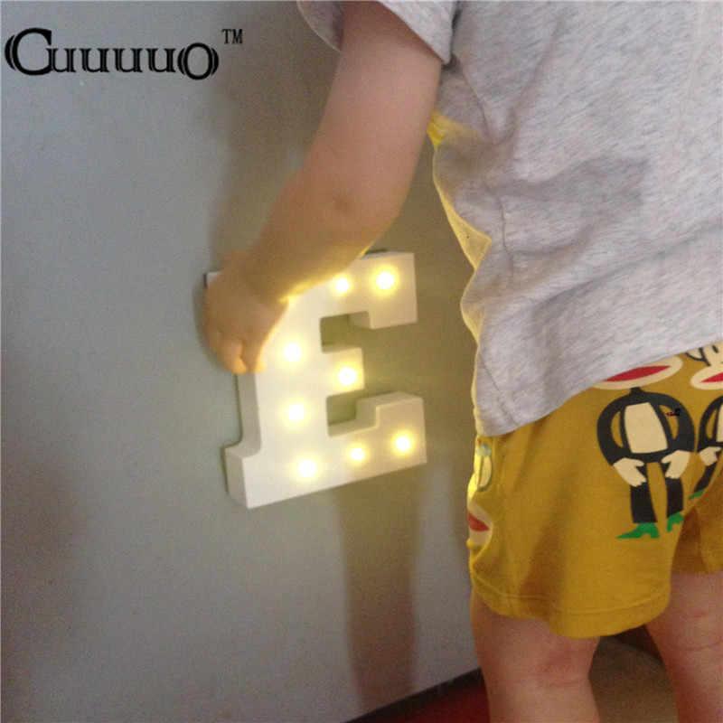 Letras de madera alfabeto LED lámpara señal marquesina luz de noche LED crecer Luz Decoración de pared para dormitorio boda luces de Adorno
