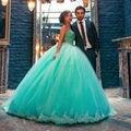 Frisada Top Organza Vestido de Babados 15 Anos Azul Quinceanera Vestido de Baile Vestidos Quinceanera 15 Anos Vestidos De 15 Años