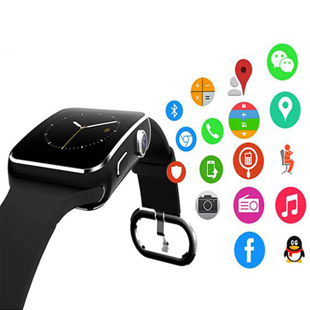 FLOVEME E6 Sport Smart Watch Bluetooth Sync Phone Smartwatch For Apple iPhone Huawei Xiaomi Android Wrist Watches Relogies Band
