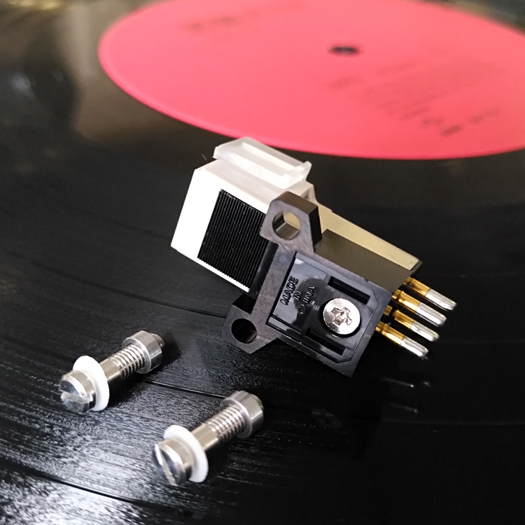 1pc LP Phonograph Pickup Stylus Gold-plated MM Phonograph Needle Cartridge Mounting Screws Sound Connector Exquisite Packaging
