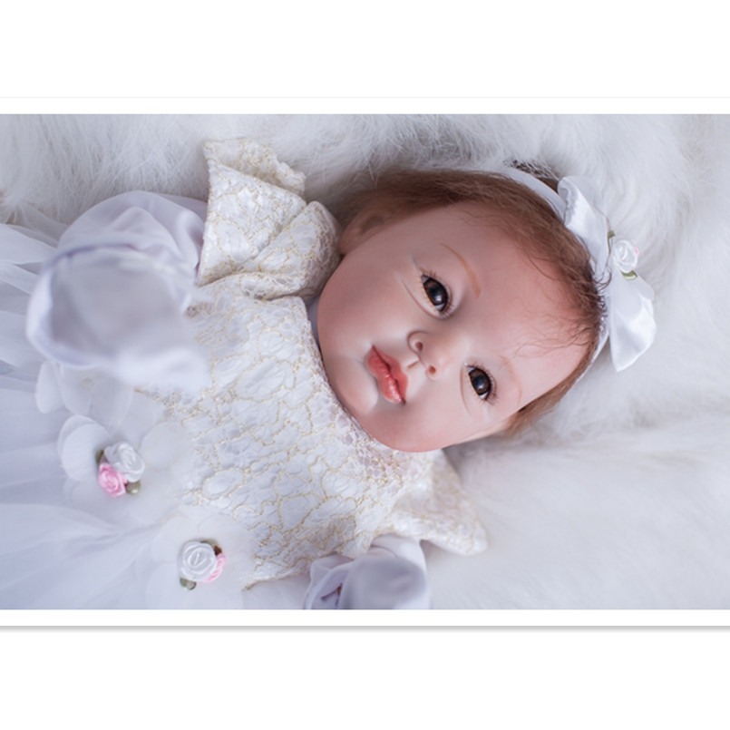 50 CM Silicone Reborn Baby Dolls Newborn Baby Doll with