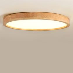 LED nowoczesne drewniane plafond lampy sufitowe do pokoju dziecięcego salon sypialnia oprawa oświetleniowa sufitowa akrylowy abażur dom loft deco w Oświetlenie sufitowe od Lampy i oświetlenie na