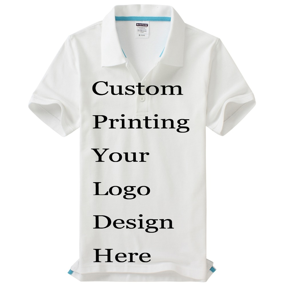 Custom Printing Logos Name polo shirts Embroidery Heat Transfer Digital Print 100% Cotton Customize Poloshirts unisex Polos Tops