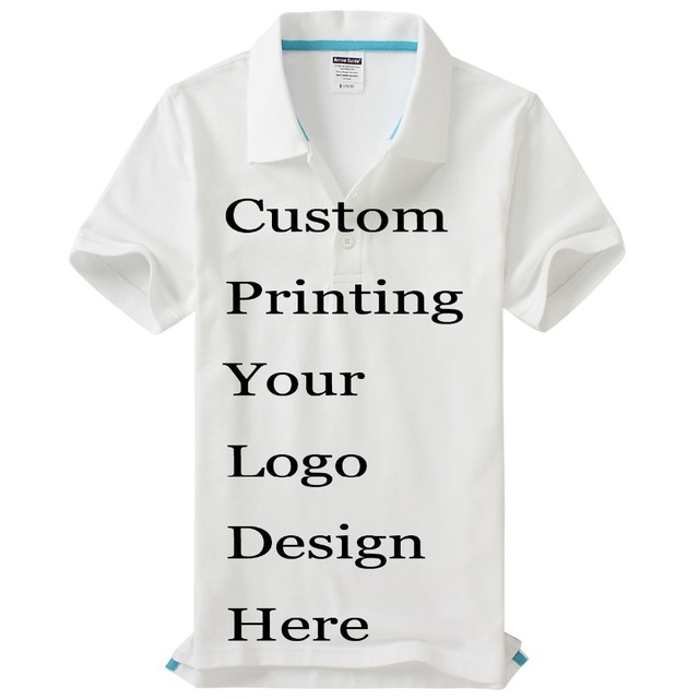 Custom Printing Logos Name Polo Shirts Embroidery Heat Transfer