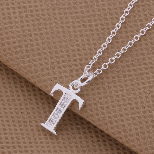 Top quality silver letters p q s t pendant necklace with zircon top quality silver letters p q s t pendant necklace with zircon jewelry pretty cool birthday gift hot in pendant necklaces from jewelry accessories on aloadofball Images