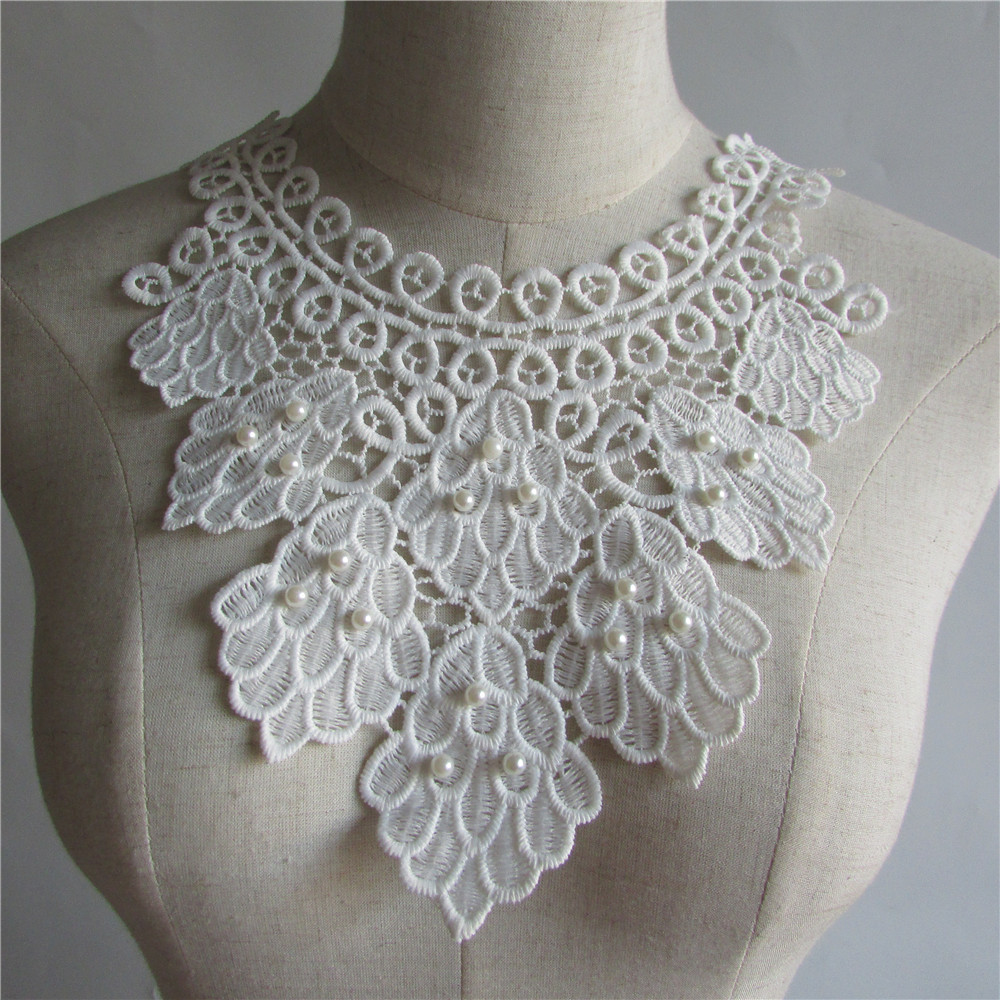 Aliexpress buy high quality white pearl embroidery