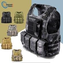 Тактический жилет в стиле амфибий, военный жилет в стиле милитари, защитный Камуфляжный жилет для охоты