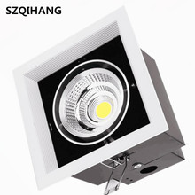 12W/2*12W/3*12W LED Bean Pot Lights AR70 COB Grille Lamp Super Bright Gallbladder For Indoor CE RoHS Warm  Cold White