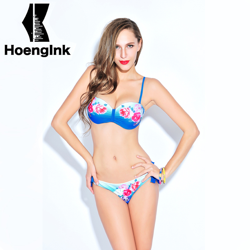 2018 BRANDMAN New Chinese Floral Print Sexy Bikini Beach Fresh Swimwear Swimming Pool Two-piece Size S to XXL 66077