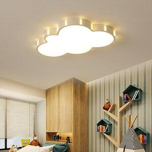 Image 2 - Современная люстра Cloud для детской комнаты, детская комната, спальня, plafon 110 В 220 В, горячая потолочная светодиодная люстра lampadario, светодиодные светильники