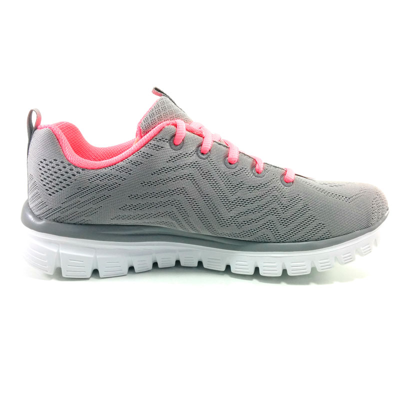 Skechers GRACEFUL GET connect Woman Shoes SUMMER Textile Synthetic GREY  trend memory foam 18 urban-in Running Shoes from Sports   Entertainment on  ... ffb56da7df6f
