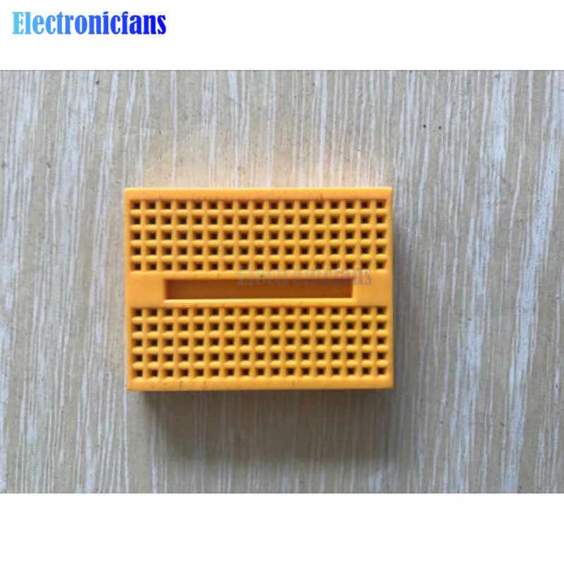 SYB-170 Mini płytka prototypowa bez lutowania prototypowy Test eksperymentalny protopboard 170 Tie-Points deska do chleba dla Arduino Shield 6 kolorów