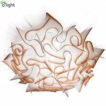 Современный блеск акриловый цветок dimmable Потолочные светильники Дизайнер Спальня светодиодный потолочный светильник Гостиная светодиодный потолочный светильник
