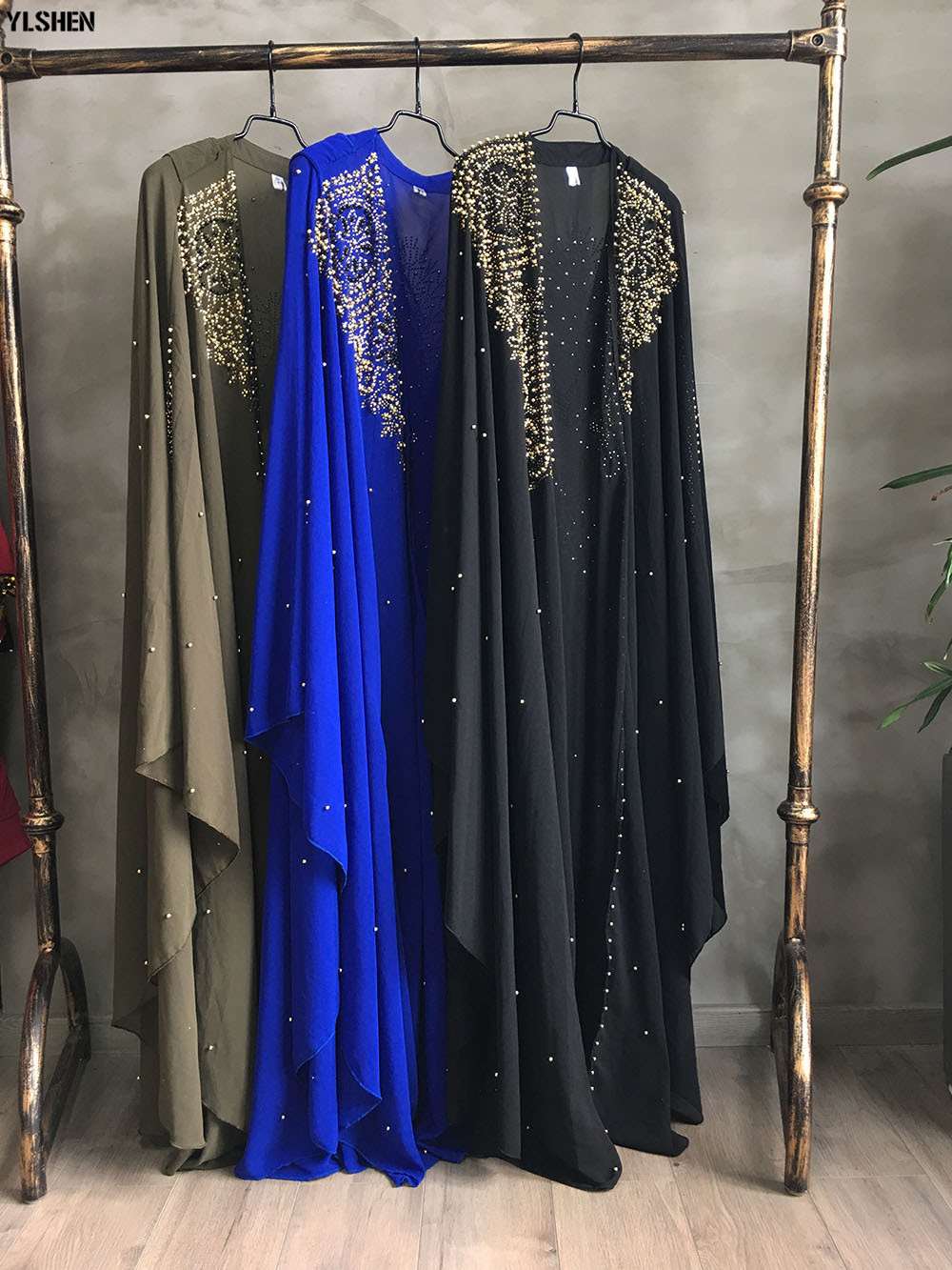 Plus Size African Dresses for Women Dashiki Diamond Beads African Clothes Abaya Dubai Robe Evening Long Muslim Dress Hooded Cape 20