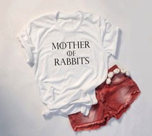 Mother of Rabbits T-Shirt Bunny Mom graphic women fashion grunge tumblr  aesthetic goth tee tops