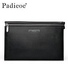 Padieoe 2016 Famous Brand Designer Handbag Casual 100% Genuine Cow Leather Men Day Clutch Bag New Fashion Men Wallet Purse Bag
