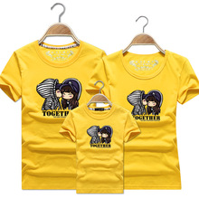 Mum And Daughter Clothes Family Look Mother Daughter Father Son Short Sleeve Couples Matching Clothing Family Outfits Tshirts недорого