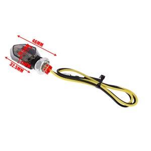 Image 5 - 1Pair Mini Motorcycle 5LED 12V Turn Signal Indicator Light Amber Two Wire Blinker Smoke Lens Lamp For Honda For Kawasaki