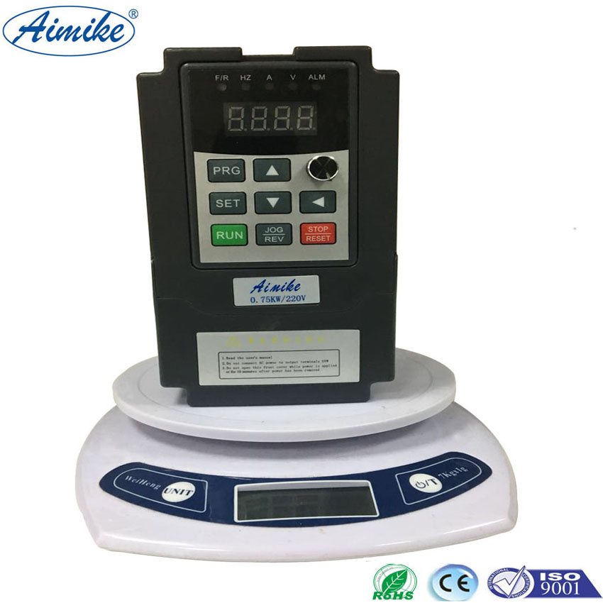 AIMIKE AMK3500 Series Single Phase VFD 0.75KW 220V  Drive VFD Inverter Professional Variable Frequency Drive delta ac motor drive inverter vfd007c43a vfd c2000 series 1hp 3 phase 380v 750w new