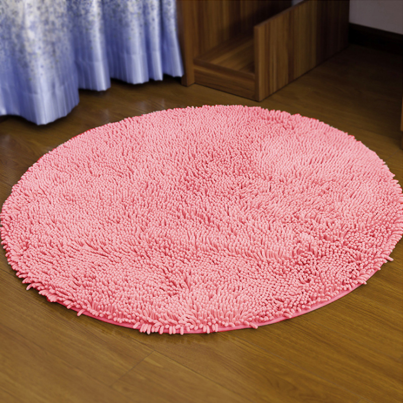 Round Chenille Carpet Bathroom Floor Children S Rugs And Carpets Rug For Home Living Room Bath Mats Mat Office Chair In From