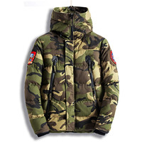 MORUANCLE Fashion Men S Camouflage Winter Jackets Thick Warm Camo Coats For Man Thermal Parkas High