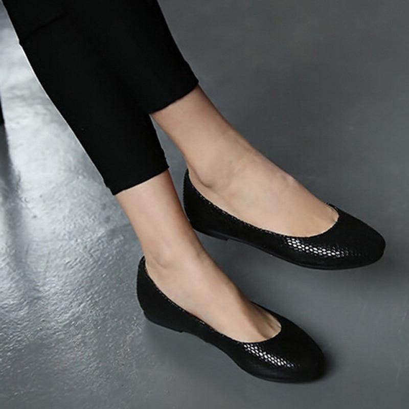 Femme chaussures ballerines Zapatos de Las Mujeres Pisos de Cuero Genuino Famoso